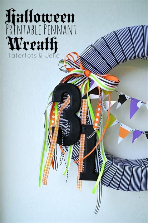 whimsical halloween spider wreath tatertots