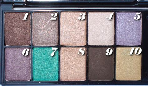 nyx  brown eyes eyeshadow pallette swatches review