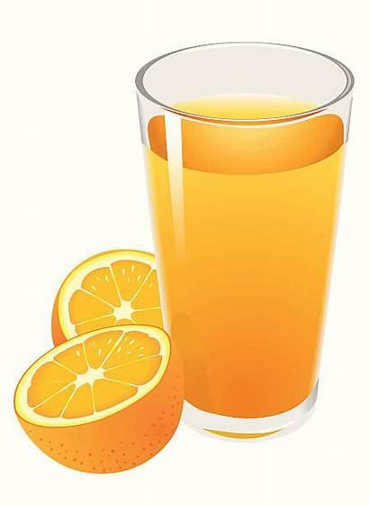 Juice Orange Clipart Clip Illustrations Glass Vector