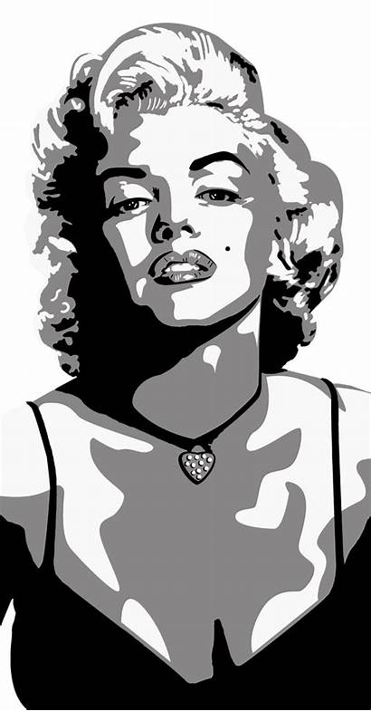 Monroe Marilyn Silhouette Face Drawing Clip Clipart