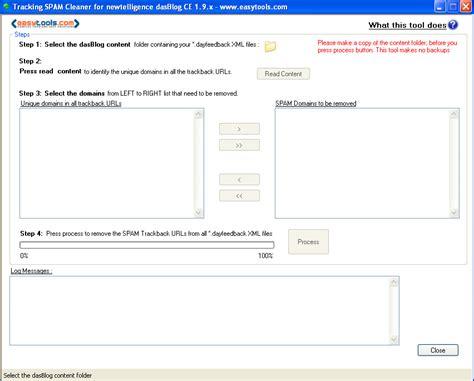 Trackback Spam Cleaner For Dasblog