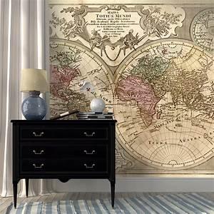 Tapisserie Carte Du Monde : papier peint carte du monde carte du monde ~ Teatrodelosmanantiales.com Idées de Décoration