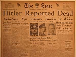 Adolf Hitler Death Newspaper