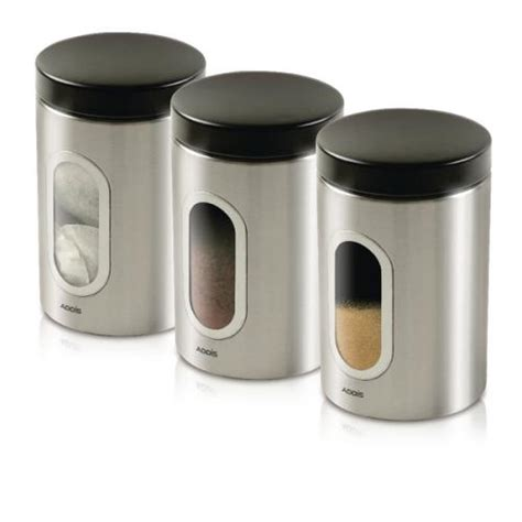 cheap kitchen canisters kitchen canisters set of 3 silver stainless steel kzocs