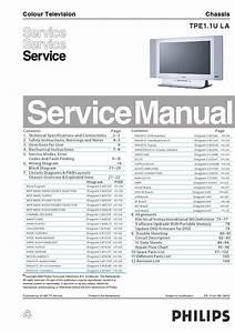 Manual De Servi U00e7o Do Televisor Philips Modelo 26md251d Chassis Tpe1 1u