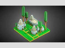Talaak Village Voxel art 3D model by sir_carma Sir