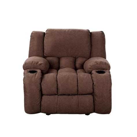 Microfiber Recliner by Chocolate Plush Microfiber Recliner 73040 96ch The Home