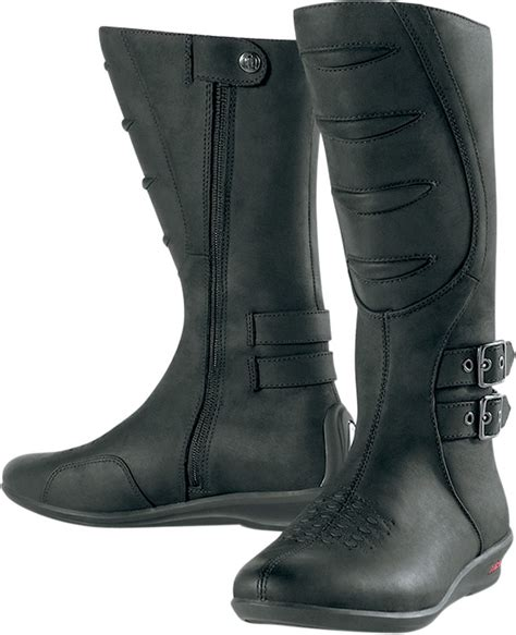 female motorbike boots icon women 39 s sacred tall motorcycle boot black