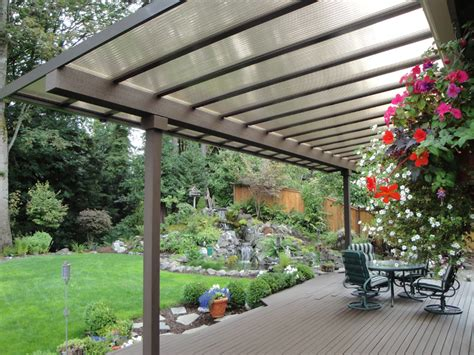 aluminum patio covers for modern houses landscaping