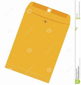 large yellow envelope stock vector illustration of side With yellow letter paper