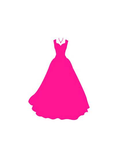 Silhouette Silhouettes Gowns Gown Vector Svg Pink