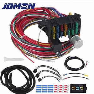Universal Wire 12 Circuit Wiring Harness Fit For Chevy