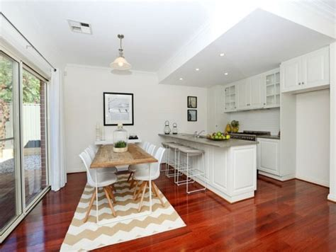 white wash dining room floors