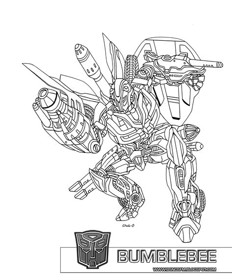 transformers bumblebee coloring page printable