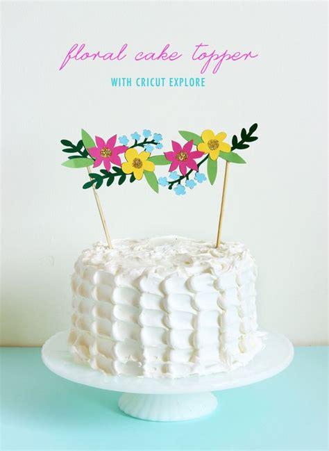 diy cake topper recipe diy floral cake topper party pinterest floral cake