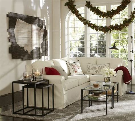 pottery barn nc cameron slipcovered 3 sectional with corner