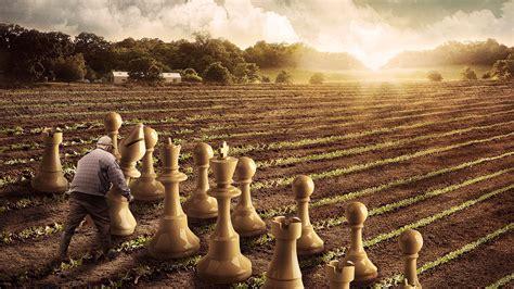 wallpaper chess pieces farming  creative graphics