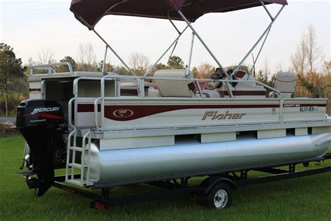 Fisher Motor Boats For Sale by Fisher Liberty Pontoon Boat W 4 Stroke Motor And Trailer