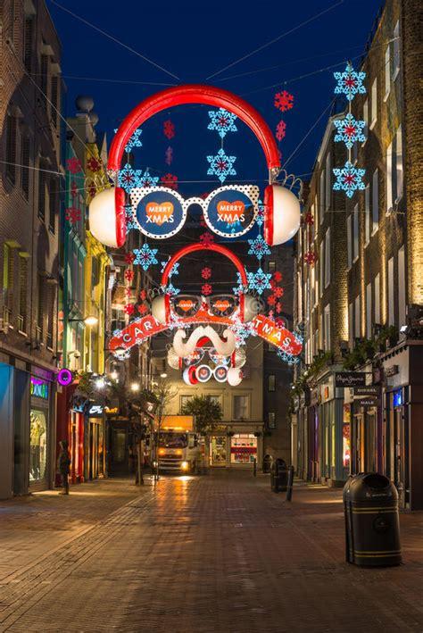 Christmas Lights On Carnaby Street, London Uk Editorial