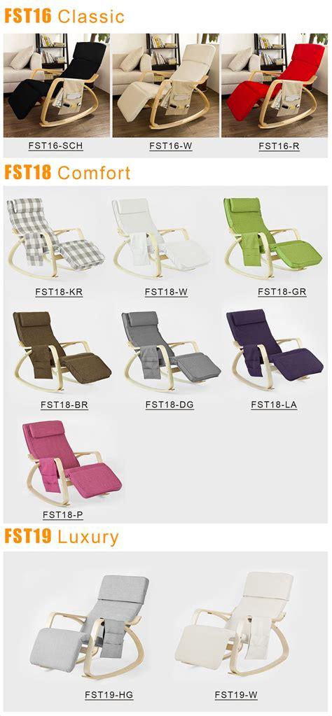 chaise longue a bascule sobuy rocking chair fauteuil à bascule fauteuil berçante