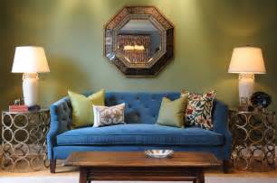 Brown Couch Decorating Ideas Living Room by Velvet Tufted Sofa With Relaxing Seat Design For Modern