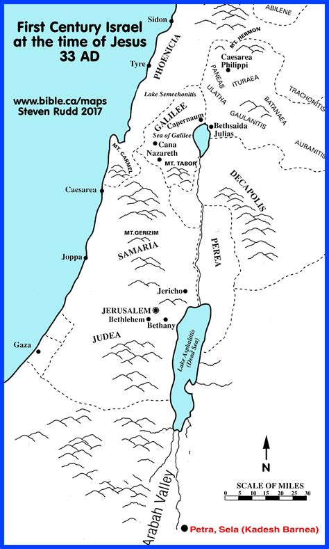 bible class israel map  jesus time   rise