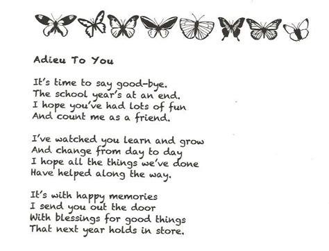 end of the year bye poem teaching preschool 754 | 96a86a1bc27a535d5b55a0fe2808e60f teacher poems teacher gifts
