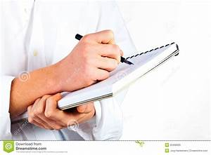 Man Writing In A Book Royalty Free Stock Images - Image ...
