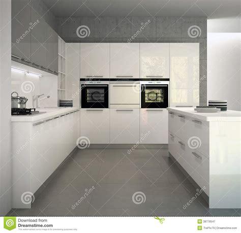 cuisine brillante cuisine moderne brillante blanche dans un intérieur