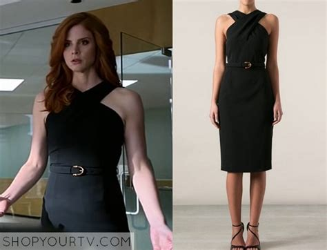 suits season  episode  donnas black halter dress