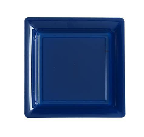 assiette jetable bleu marine 18cm