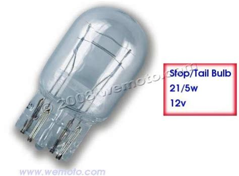 Stop/tail Bulb 12v 21/5w Capless Parts At Wemoto
