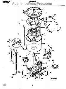 Parts For Frigidaire Fwx233res4  Motor    Tub Parts