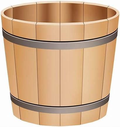 Bucket Clip Wooden Clipart Clipartpng