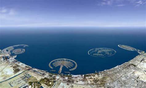 sinking islands in the world palm island dubai sinking