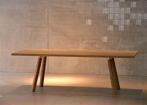 Table Ronde En Chene : table de repas ronde ou rectangle en ch ne et hpl blanc jankurtz ~ Teatrodelosmanantiales.com Idées de Décoration