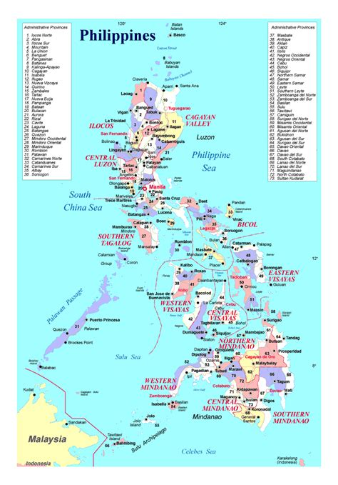 administrative divisions map  philippines philippines