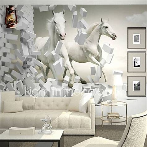 contemporary  shinny leather effect large mural