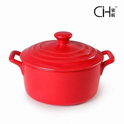 Pot Ceramic Cooking Pots Porcelain Soup Casserole