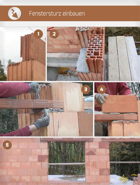 fenstersturz einbauen fenster einbauen fenstersturz haus renovieren haus bauen