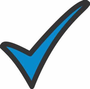 Blue Tick Clip Art at Clker.com - vector clip art online ...