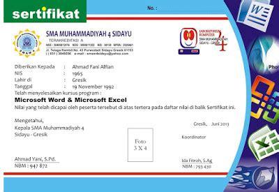 contoh sertifikat komputer desain kampungan