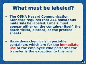 ppt hazard communication powerpoint presentation id761413 With all hazardous chemical labels must be