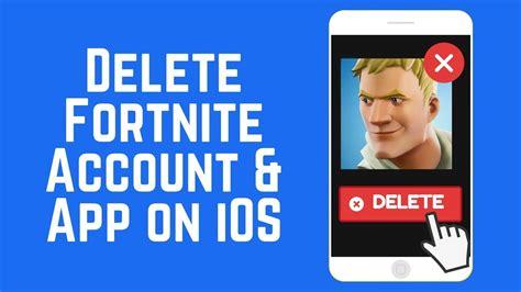 delete  fortnite account app  iphone