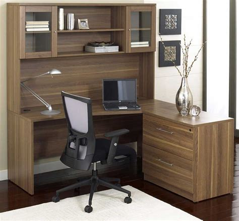 l shaped desk and hutch living room brilliant office room idea implemented with l