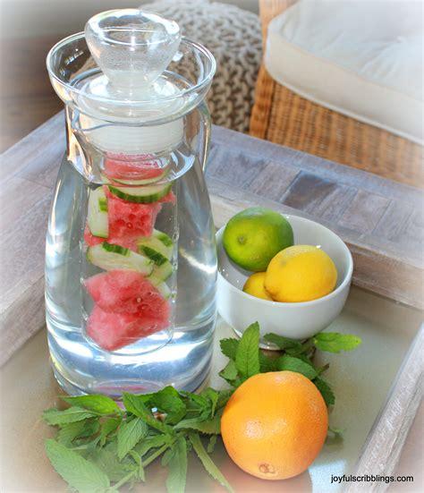 10 infused water recipes joyful scribblings