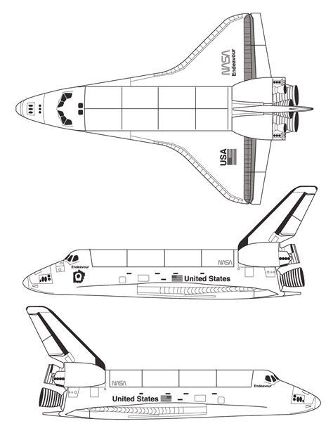 Space Shuttle Blueprint - Download free blueprint for 3D