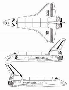 Space Shuttle Blueprint - Download free blueprint for 3D ...