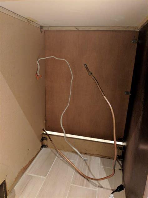 dishwasher installation  junction box