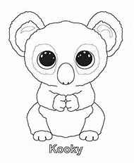 ty beanie boos coloring pages - Beanie Boo Coloring Pages